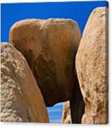 Usa, California, Joshua Tree National Park, Desert Rocks Canvas Print