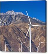Usa, California, Palm Springs, Wind Farm Canvas Print