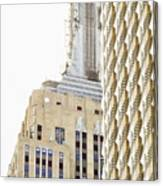 Usa, New York City, Detail Of Empire State Building Canvas Print