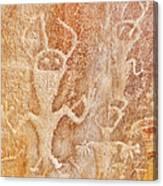 Usa, Utah And Colorado, Dinosaur National Monument, Petroglyphs Canvas Print