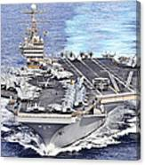 Uss Abraham Lincoln Transits Canvas Print