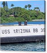 Uss Arizona Bb 39 Marker Canvas Print