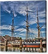 Uss Constitution-boston Canvas Print