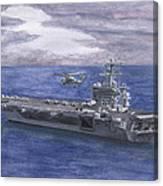Uss Eisenhower Canvas Print