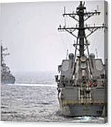 Uss Porter And Uss Nitze Participate Canvas Print