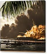 U S S Shaw Pearl Harbor December 7 1941 Canvas Print