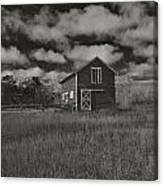 Utah Barn In Black And White Canvas Print