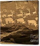 Utah Petroglyphs 1 Canvas Print