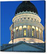 Utah State Capitol Building Dome At Sunset Canvas Print