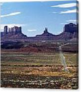 Utah, Usa Highway And Rock Formations Canvas Print