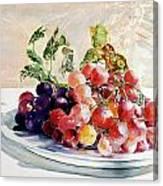 Uva Rossa Su Piatto Canvas Print