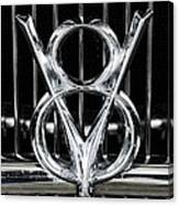 V-8 Car Emblem Canvas Print