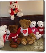 Valentine Bears  Canvas Print