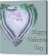 Valentine Pink Tree Peony Canvas Print