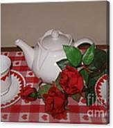 Valentine Tea For Two  Canvas Print