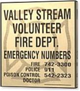 Vallet Stream Fire Department In Sepia Canvas Print