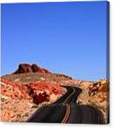 Valley Of Fire Road And Sky Nevada Canvas Print