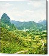 Valley Panorama Canvas Print
