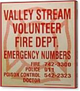 Valley Stream Fire Department Canvas Print