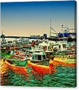 Valparaiso Boats Canvas Print