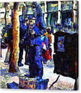 Van Gogh Is Captivated By A San Francisco Street Performer . 7d7246 Canvas Print