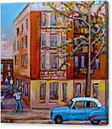 Van Horne Boulevard Montreal Street Scene Canvas Print