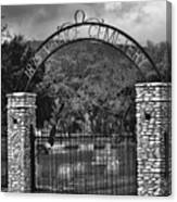 Vance Cemetery Black And White Canvas Print