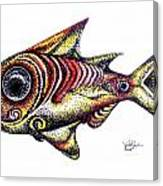 Variegated Red Fish In Stipple Canvas Print