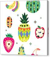 Various Kinds Of Fruit Canvas Print
