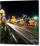 Vegas Light Trails Canvas Print