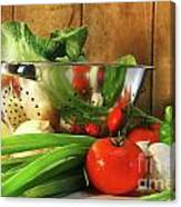 Veggies On The Counter Canvas Print