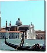 Venice From A Gandola Canvas Print