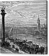 Venice: Grand Canal, 1875 Canvas Print
