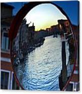 Venice Grand Canal Mirrored Canvas Print