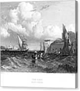 Venice: Lido, 1833 Canvas Print