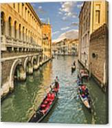 Venice View To The Grand Canal From The Calle Foscari Bridge Canvas Print
