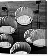 Vented Lights In Black And White Canvas Print