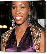 Venus Williams At Arrivals For Hitch Canvas Print
