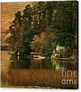Vermont Autumn Shoreline Canvas Print