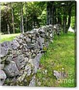 Vermont Stone Wall Canvas Print