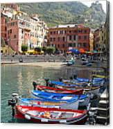 Vernazza's Harbor Canvas Print