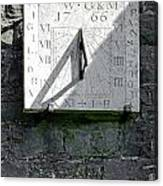 Vertical Sundial On Fenny Bentley Church Canvas Print