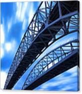 Very Blue Water Bridge  Canvas Print
