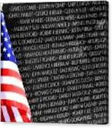 Veterans Memorial  Canvas Print