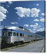Via Rail Canada Train Waiting At Jasper Canvas Print