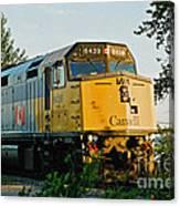 Via Rail Engine Canvas Print