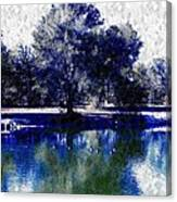 Vibrant Blue Canvas Print
