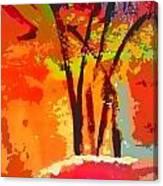 Vibrant Bouquet Canvas Print