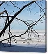 Victoria Beach Winter Canvas Print