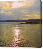 Victoria Harbor Sunset Canvas Print